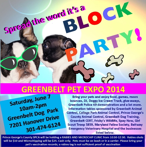 greenbelt pet expo